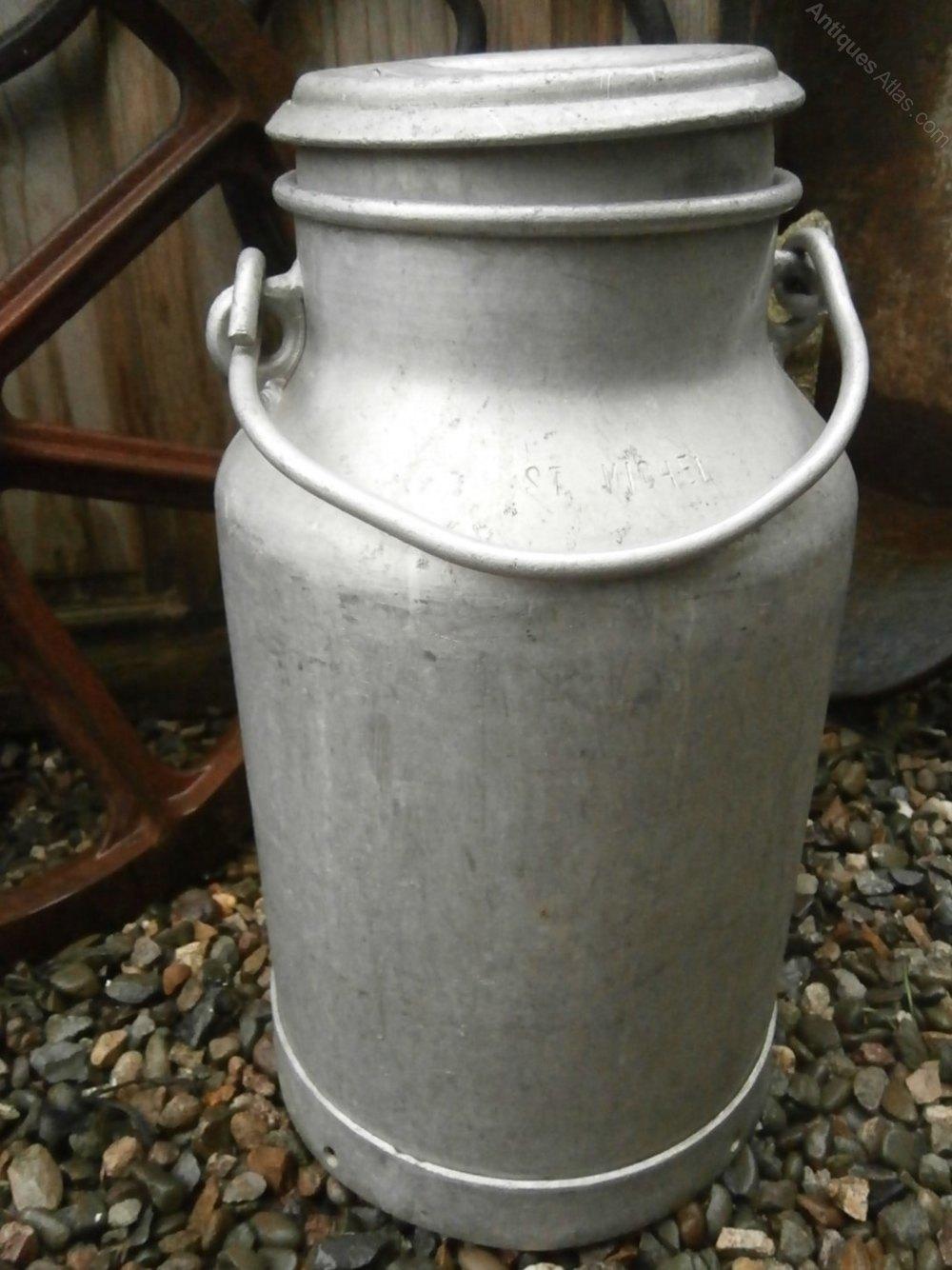 Decorative Milk Urn Original French Milk Churn Stamped St Michel