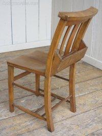 Original Edwardian Wooden Church Chairs - Antiques Atlas