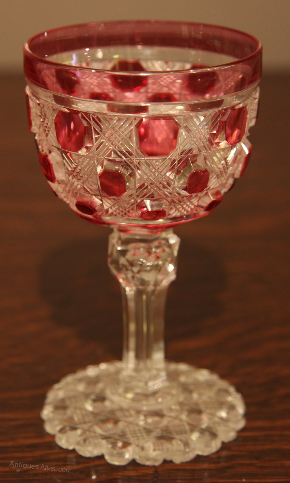 Wine Glasses Antiques Atlas - Rare Set Of 14 Cranberry Victorian Wine