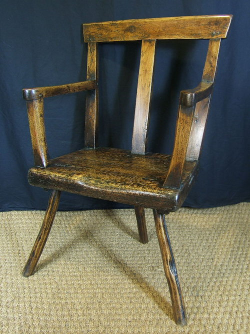 North Wales Welsh Oak Stick Chair Antiques Atlas