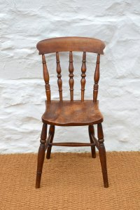 Set Of Four 19thC Elm Farmhouse Dining Chairs - Antiques Atlas