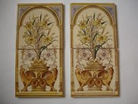 Antiques Atlas - Set Of 4 Victorian Fireplace Tiles Like ...