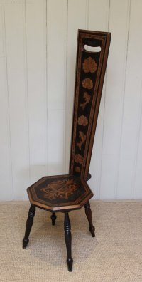 Beechwood Spinning Chair - Antiques Atlas