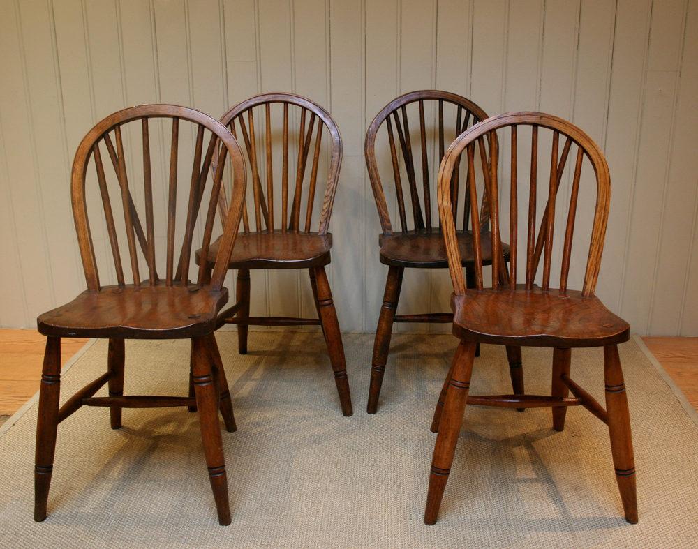 Set Of Six Hoop Back Windsor Chairs Antiques Atlas