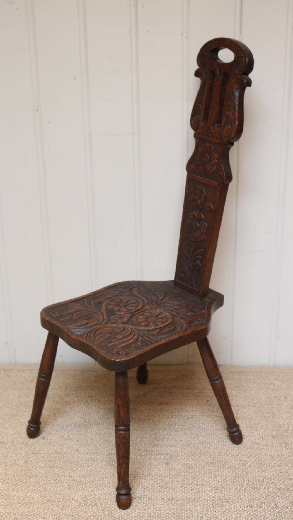 Spinning Chair Welsh Oak Spinning Chair Antiques Atlas
