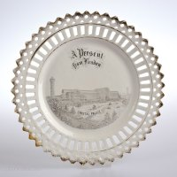 Antiques Atlas - Victorian Porcelain Ribbon Plate