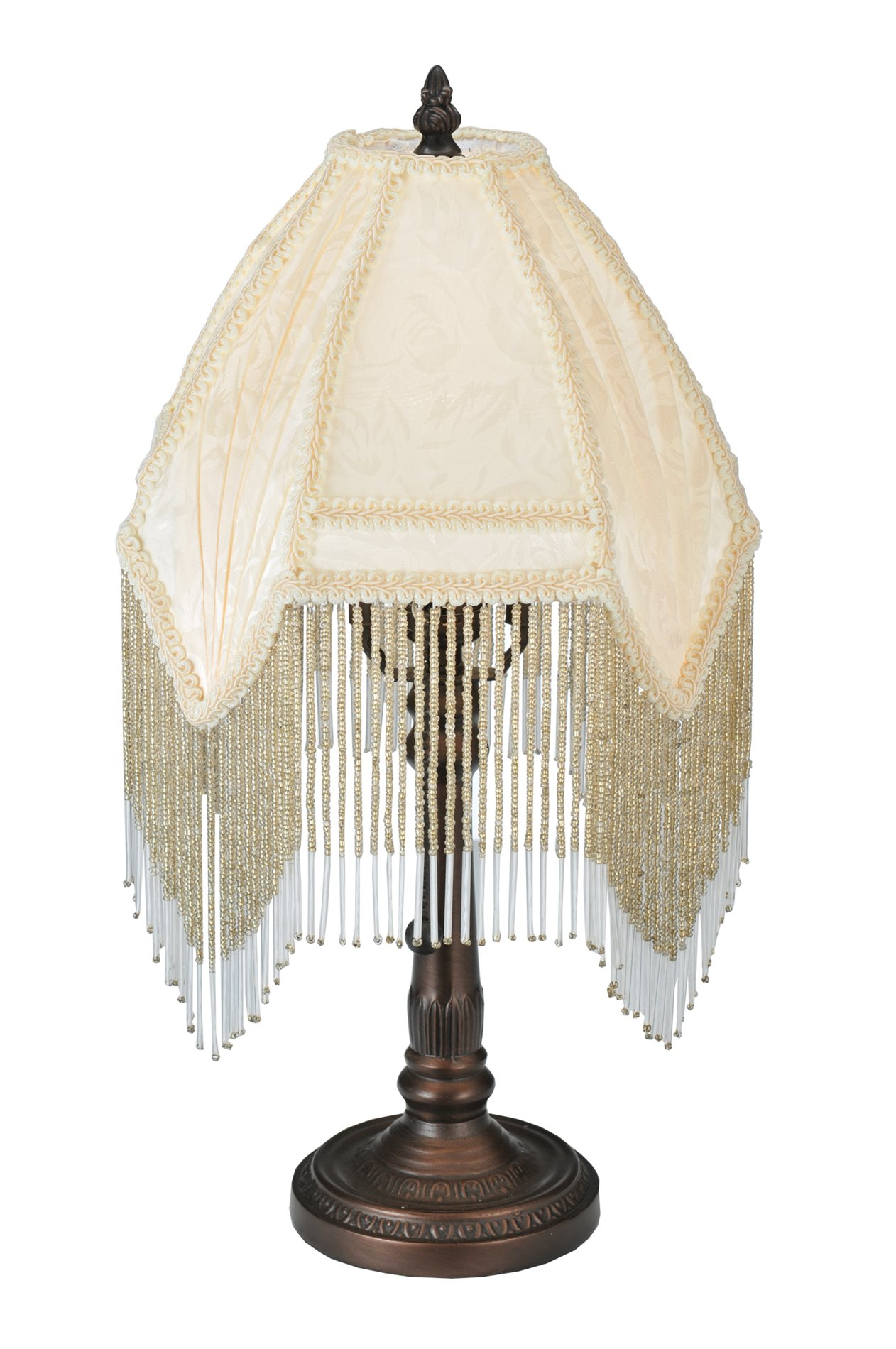 House Table Lamp Meyda Tiffany 51440 Victorian Style Arabesque Fabric Table
