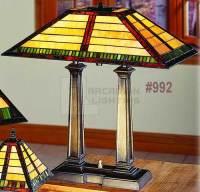 Paul Sahlin Tiffany 992 Mission Style Tiffany Desk Lamp ...