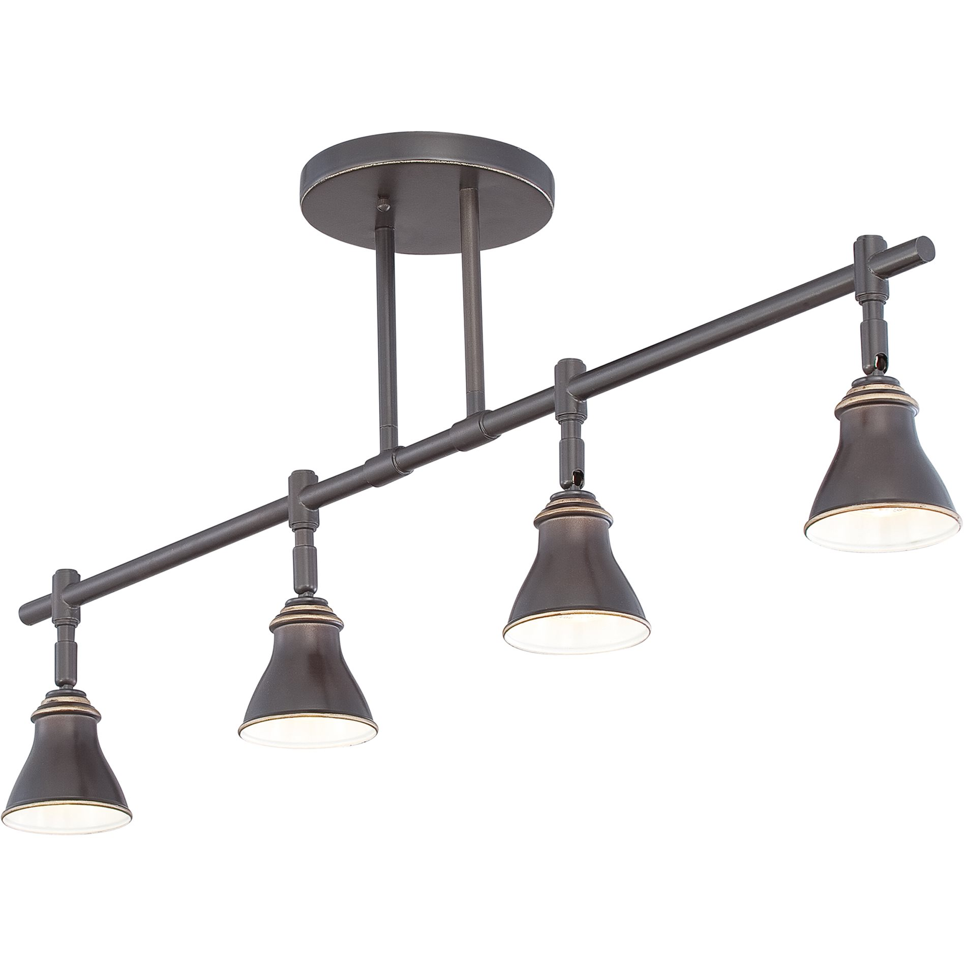 Designer Hanging Light Fittings Quoizel Qtr10054pn Contemporary Ceiling Track Light Qz