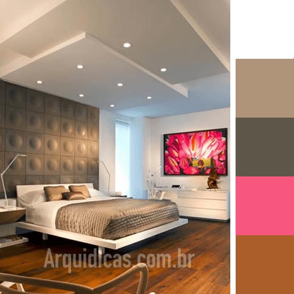 Cores para Quarto 49 Ideias de Paletas de Cor Arquidicas ~ Quarto Pintado De Branco E Cinza
