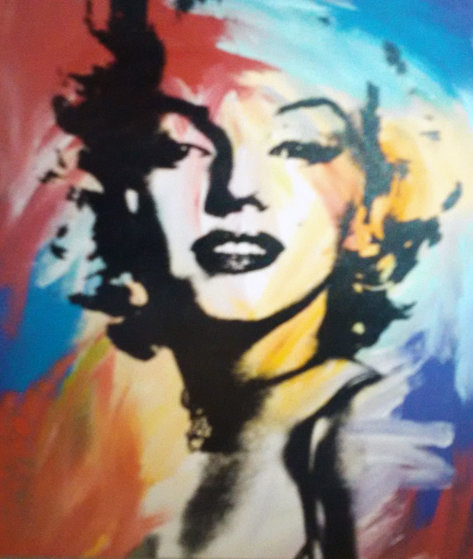 Marilyn Monroe Cuadro Marilyn Monroe 1997 48x40 Acrylic Painting On Canvas Of