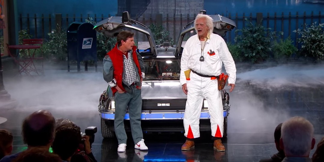 Gta Car Wallpaper Marty Mcfly And Doc Brown Visit Jimmy Kimmel Live Askmen