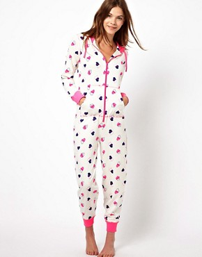 Image 1 of New Look Hollow Heart Onesie
