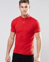 Polo Ralph Lauren Plain Logo Slim Fit Polo - Red