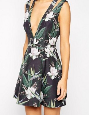ASOS plunge neck dress