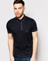 French Connection Polo Shirt - Black