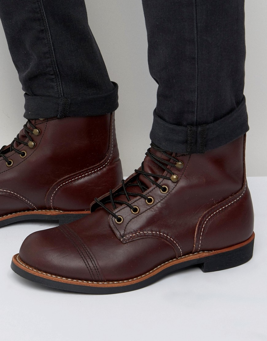Red Wing Red Wing Iron Ranger Leather Boots At Asos