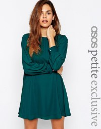 ASOS Petite | ASOS PETITE Mini Babydoll Swing Dress with ...