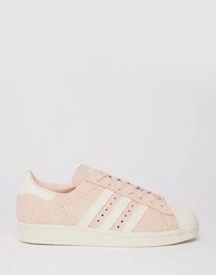 adidas originals blush pink superstar 80 s trainers