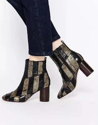 Asos Asos Rattle Patch Work Ankle Boots