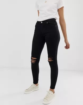 Hose Mit Rissen Dr Denim Lexy Mid Rise Second Skin Super Skinny Ripped