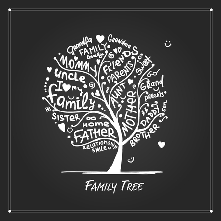 Family tree sketch for your design Royalty-free vector graphics