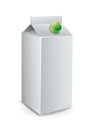 Milk Carton Template Royalty-free vector graphics