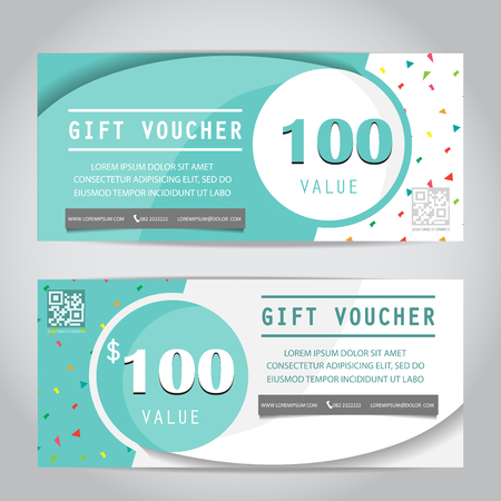 confetti gift voucher certificate coupon template, can be use for