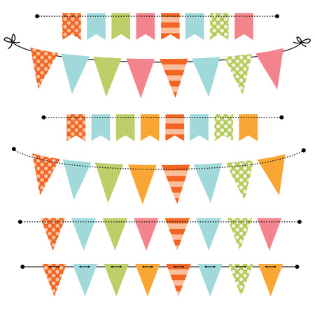 Blank banner, bunting or swag templates for scrapbooking parties