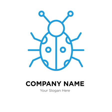 Ladybug company logo design template, Ladybug logotype vector icon