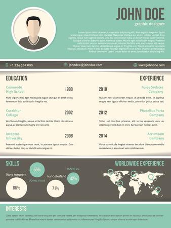 Cool resume cv curriculum vitae template design with dark and light
