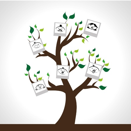 family tree design over gray background illustration Royalty-free