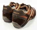 Geox Respira Snake Trainers Retro 70s Indie Leather
