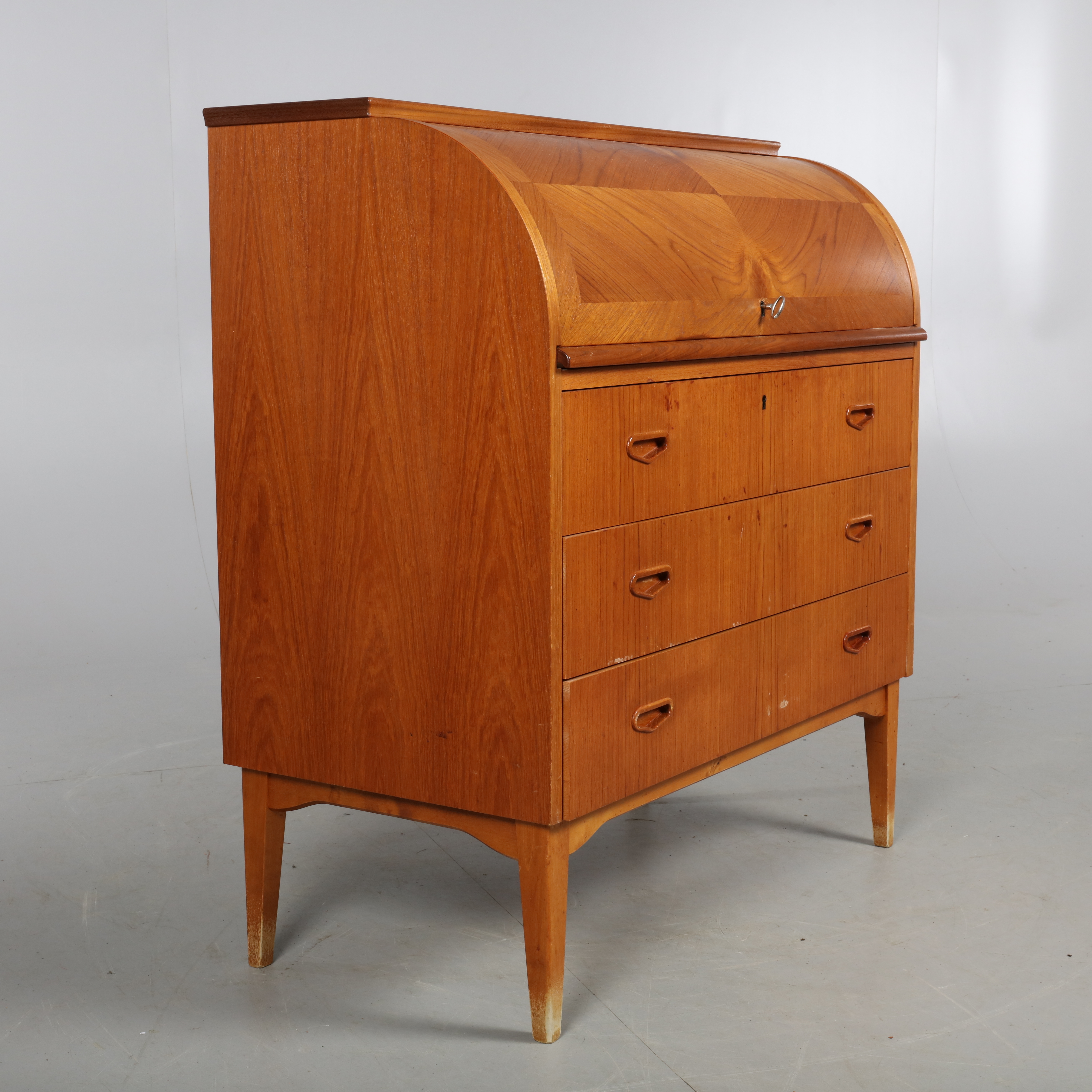 Mini Sekretär Sekretär Rullklaff Teak 1950 1960 Tal Furniture Chests Of