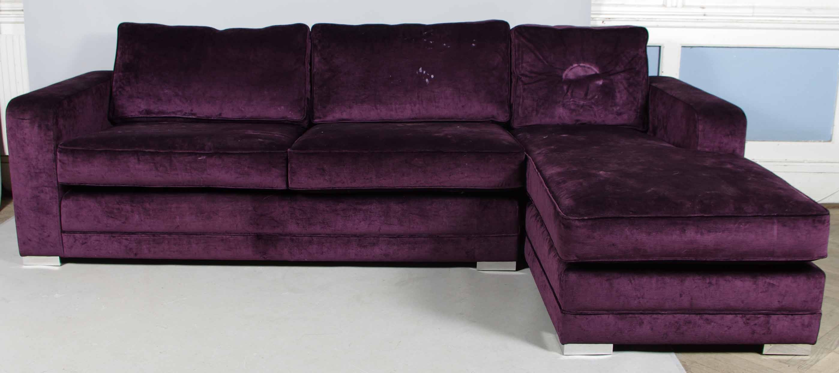 Lila Couch Divansoffa Lila Plysch Furniture Sofas Seatings Auctionet