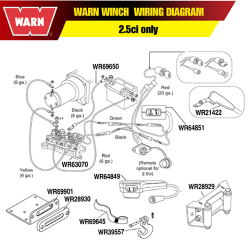 warn a2000 winch wiring schematic
