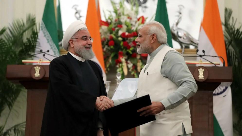 Hassan Rouhani and Narendra Modi