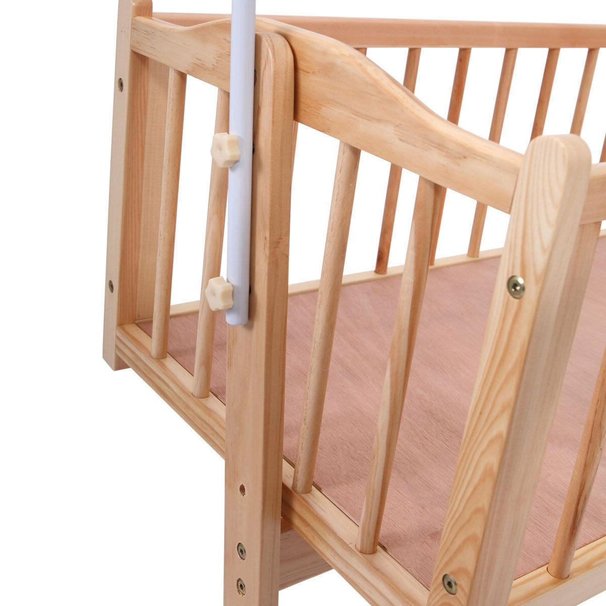 Baby Cradle Dimensions Wood Baby Cradle Rocking Bassinet Bed Sleeper Born