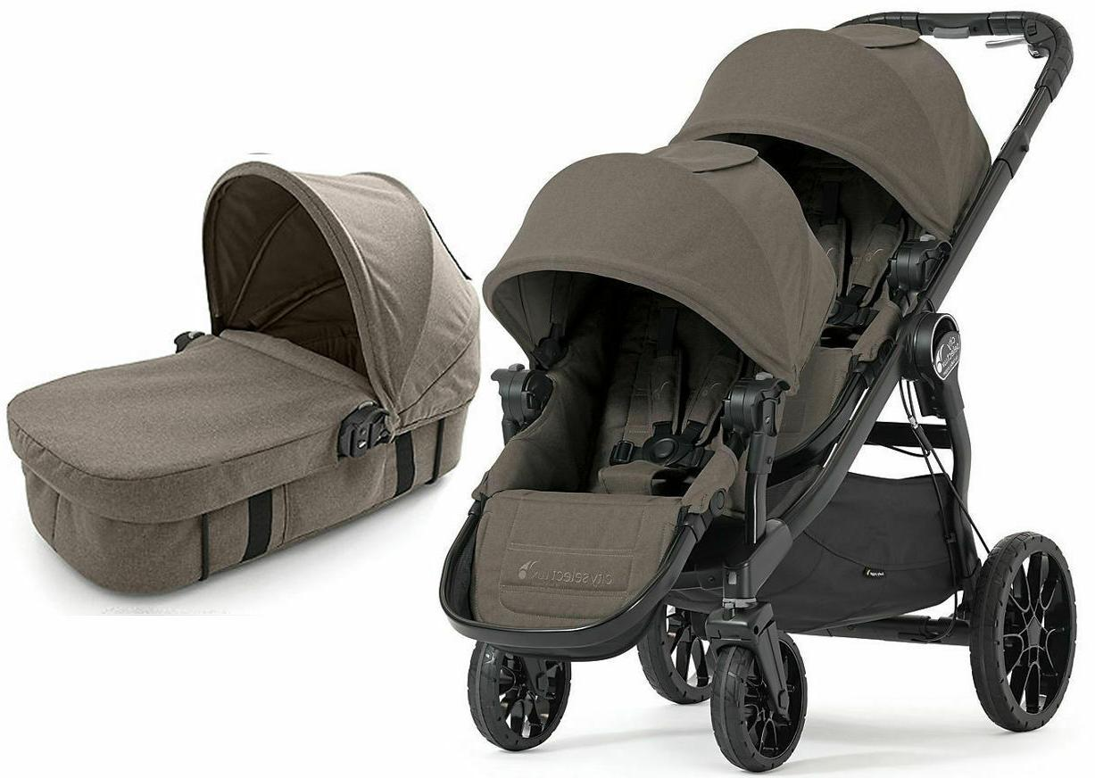 Baby Jogger City Select Baby Jogger City Select Lux Twin Tandem Double Stroller W Second Seat 2017 Taupe