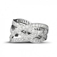 2.50 carat diamond design ring in platinum - BAUNAT