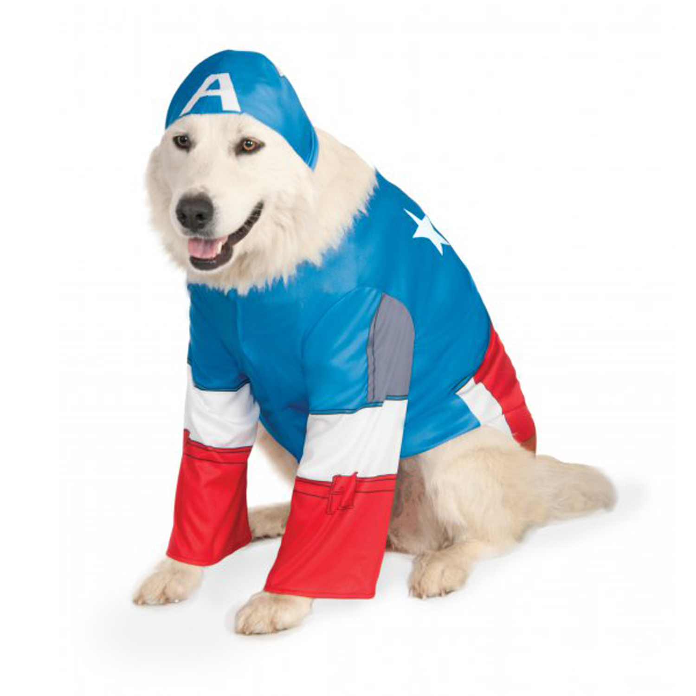 Big Dog Marvel Captain America Dog Costume