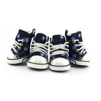 Converse Dog Shoes by Parisian Pet - Denim St... | BaxterBoo