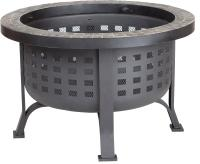 Fire Sense Alpina Round Slate Top Fire Pit