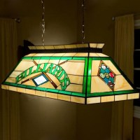 Billard Pool Table Lamp Stained Glass Tiffany 2-light ...