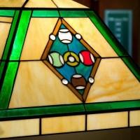 Billard Pool Table Lamp Stained Glass Tiffany 2-light ...