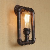 Vintage Rust Pipe Style Industrial Indoor Wall Sconces ...