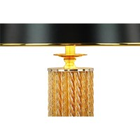 Cylinder Glass Column Table Lamp with Trapezoid Fabric ...