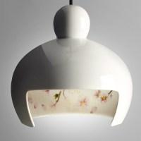 Ceramic Pendant Light Japanese Sakura White ...