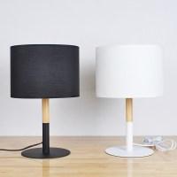 Vintage Desk Lamp with Cylinder Shade in Black/White ...