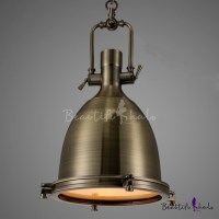 Industrial 1-Light Dome Shade Pendant Light Frost Glass ...